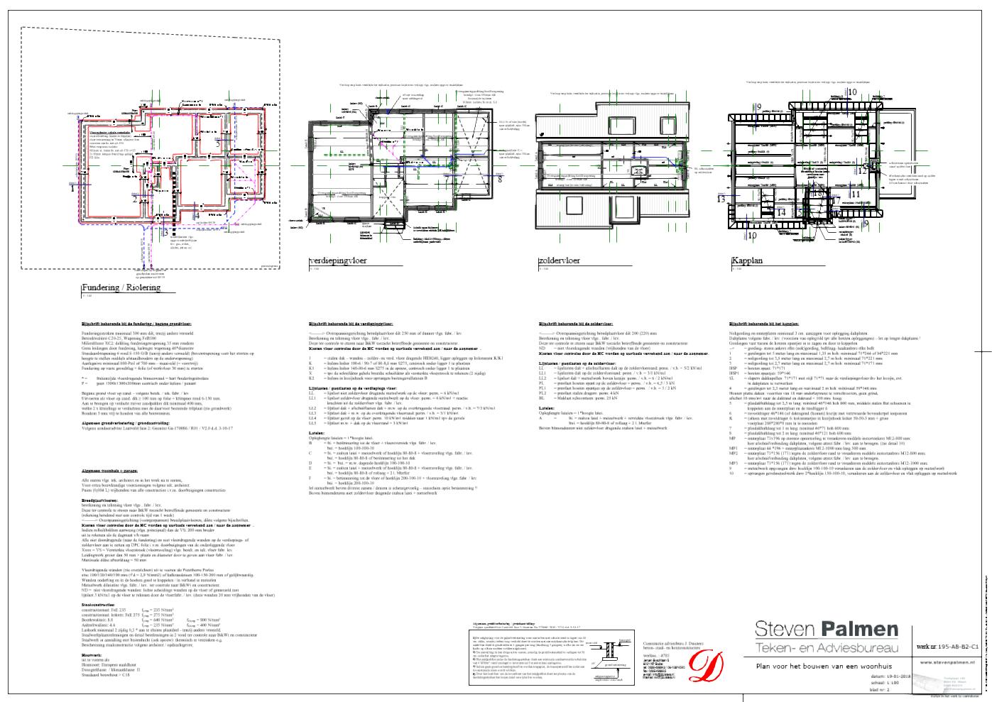 Constructie tekening Laarveld Weert Nieuwbouw woning
